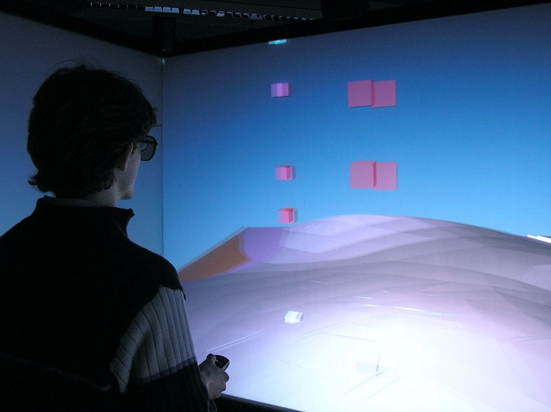 Visualization Of 3D Geological Model At A CAVE, Institute Of Mathematics,  TU Berlin.