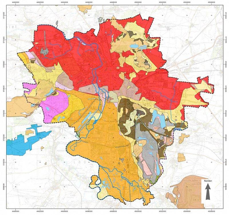 Halle Saale Karte.Geologisches 3d Modell Der Stadt Halle Saale